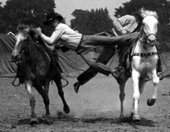 Chuck Dent Rodeo Steer Wrestling Bull Riding Wild